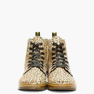 Dr. Martens leopard print canvas boots size 9
